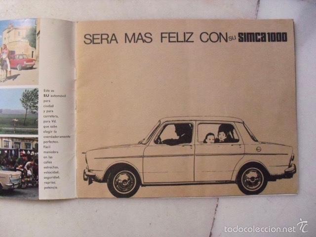Catálogos publicitarios: CATÁLOGO PUBLICITARIO DE COCHE SIMCA 1000. AÑO 1966. ( 12 PÁGINAS ) - Foto 2 - 58674843