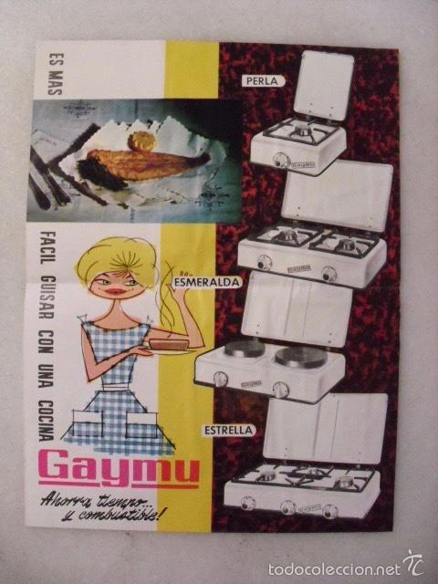 HOJA PUBLICITARIA COCINA GAYMU. AÑOS 60. (Coleccionismo - Catálogos Publicitarios)