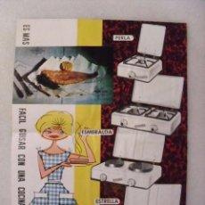 Catálogos publicitarios: HOJA PUBLICITARIA COCINA GAYMU. AÑOS 60.. Lote 58675273