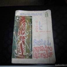 Catálogos publicitarios: GIJON PORFOLIO FIESTA DE SAN ISIDRO LABRADOR 1962.BONITA PUBLICIDAD DE CHOCOLATES KIKE. Lote 58998485