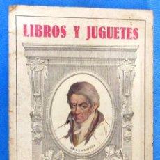 Catálogos publicitarios: LIBROS Y JUGUETES. CATÁLOGO 1924. I. G. SEIX Y BARRAL HERMS, EDITORES, BARCELONA.. Lote 59046800