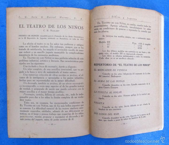 Catálogos publicitarios: LIBROS Y JUGUETES. CATÁLOGO 1924. I. G. SEIX Y BARRAL HERMS, EDITORES, BARCELONA. - Foto 5 - 59046800