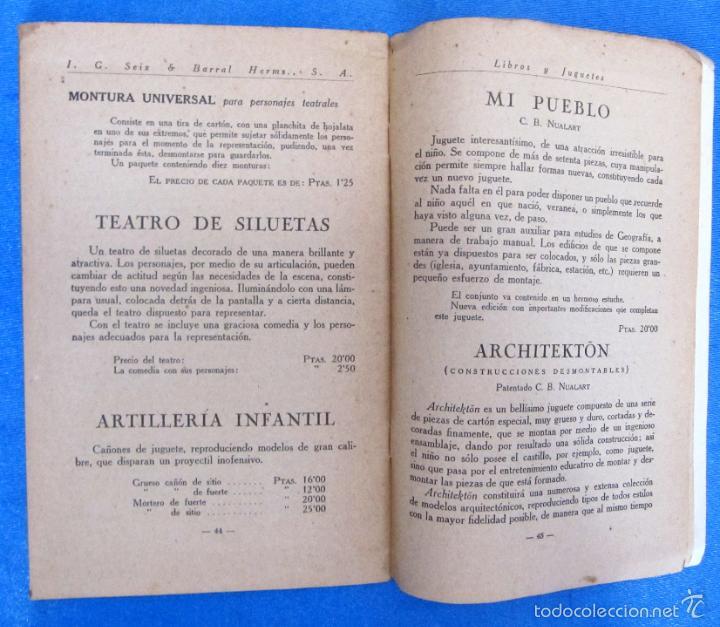 Catálogos publicitarios: LIBROS Y JUGUETES. CATÁLOGO 1924. I. G. SEIX Y BARRAL HERMS, EDITORES, BARCELONA. - Foto 6 - 59046800