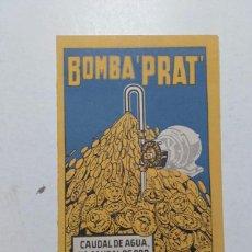 Catálogos publicitarios: BOMBA PRAT, BADALONA, AÑO 1950.. Lote 59479564