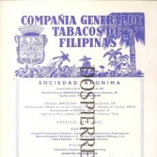 Catálogos publicitarios - RECORTE, PUBLICIDAD ,CÍA GRAL. TABACOS FILIPINAS , REVERSO ,SISTEMAS AF, 20X29, AÑOS 60 - 59587067