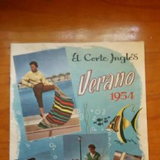 Catálogos publicitarios: CATALOGO PUBLICITARIO EL CORTE INGLES VERANO 1954. Lote 59593743