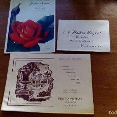 Catálogos publicitarios: CATALOGO ANTIGUO PEDRO VEYRAT HORTICULTOR 1951-52 VALENCIA INCLUYE SOBRE Y NOVEDADES AÑO 1952-53. Lote 59917151