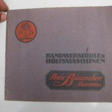 Catálogos publicitarios: IMPOSIBLE CATALOGO INDUSTRIAL MAQUINARIA 1900 PETER BÄUMCHEN , BARMEN BANDWEBSTUHLEN HÜLFSMASCHINEN. Lote 60264711