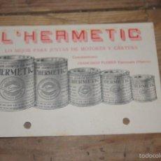Catálogos publicitarios: CATALOGO JUNTAS DE MOTORES AÑO 1930. Lote 60531367