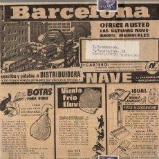 Catálogos publicitarios: CATALOGO PUBLICITARIO NAVE. BARCELONA. AÑOS 50. Lote 60789791