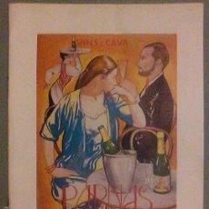 Catálogos publicitarios: ANTIGUO CATALOGO CATALEG VINS I CAVA PARNAS CAVAS VINOS TINTOS BLANCOS. Lote 61151843