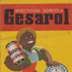 Catálogos publicitarios: GESAROL INSECTICIDA AGRICOLA - 21 X 15 CM Y 12 PAGINAS.. Lote 61467171