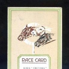 Catálogos publicitarios: *RACE CARD. R.M.S. ORCOMA. 1926* DÍPTICO. MEDS: 109 X 180 MMS.. Lote 61485459