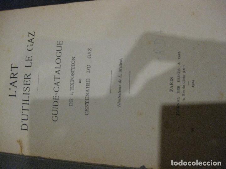Catálogos publicitarios: Precioso guia catalogo libro exposicion internacional del gas Paris 1924 Frances recetas cocina gaz - Foto 2 - 61698768