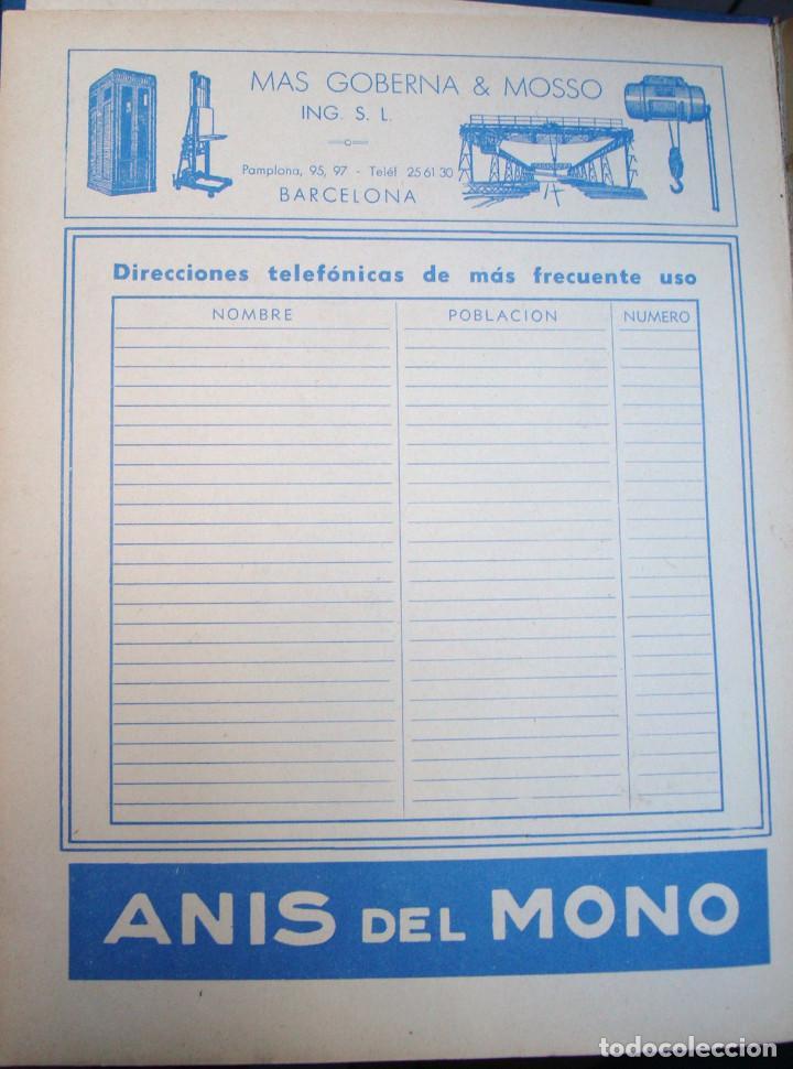LÁMINA COLECCIÓN PUBLICIDAD RECLAMO MAS GOBERNA Y MOSSO ING. BARCELONA ANÍS DEL MONO 1955 (Coleccionismo - Catálogos Publicitarios)