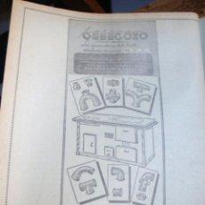 Catálogos publicitarios: LÁMINA COLECCIÓN PUBLICIDAD RECLAMO COCINAS ESTEBAN ORBEGOZO ZUMÁRRAGA 1955. Lote 61765720