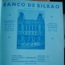 Catálogos publicitarios: LÁMINA COLECCIÓN PUBLICIDAD RECLAMO BANCO DE BILBAO 1955. Lote 61767824