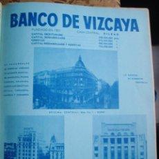 Catálogos publicitarios: LÁMINA COLECCIÓN PUBLICIDAD RECLAMO BANCO DE VIZCAYA 1955. Lote 61768040