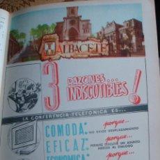 Catálogos publicitarios: LÁMINA COLECCIÓN PUBLICIDAD PROVINCIA DE ALBACETE ANUNCIO ANUARIO TELEFÓNICO 1954-1955. Lote 61769712