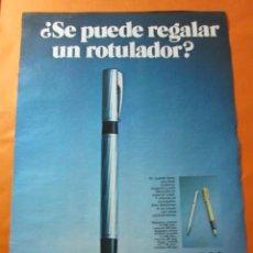 Catálogos publicitarios: PUBLICIDAD 1972 - COLECCION PLUMAS Y BOLIS - WATERMAN. Lote 62295608