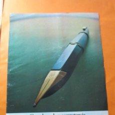 Catálogos publicitarios: PUBLICIDAD 1972 - COLECCION PULMAS Y BOLIS - WATERMAN. Lote 62295648