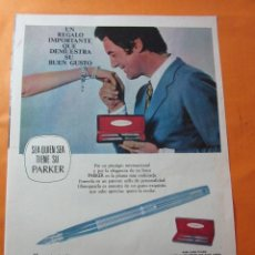 Catálogos publicitarios: PUBLICIDAD 1970 - COLECCION PLUMAS Y BOLIS - PARKER. Lote 62295796