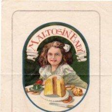Catálogos publicitarios: ANTIGUA PUBLICIDAD MALTOSIN BABY - ELABORACION DE PAN. Lote 62358140
