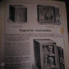Catálogos publicitarios: CATALOGO CAJA FUERTE CAJAS FUERTES CAUDALES ACORAZADAS SAGRARIOS ACORAZADOS BILBAO MALTHS GRUBER. Lote 47887927