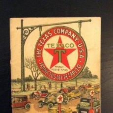Catálogos publicitarios: LOS LUBRIFICANTES TEXACO MOTOR COCHES PUBLICIDAD ANTIGUA. Lote 62734376