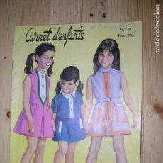 Catálogos publicitarios: CARNET D´ENFANTS Nº87. Lote 63180488