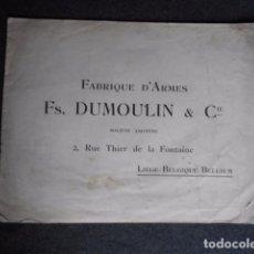 Catálogos publicitarios: CATÁLOGO D ARMAS FUSIL CARABINA DUMOULIN HUMMERLESS GUNS 50. Lote 210320457