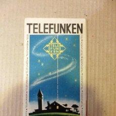 Catálogos publicitarios: RADIO CATALOGO TELEFUNKEN 1903-1953,TRIPTICO 20 PAG. MUY ILUSTRADO 17,5X9 CM. Lote 63970083