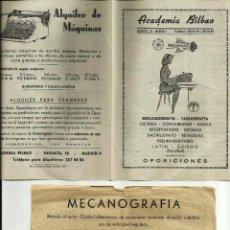 Catálogos publicitarios: INTERESANTE PUBLICIDAD DE ACADEMIAS DE MECANOGRAFÍA, AÑOS 40-50.. Lote 64432647