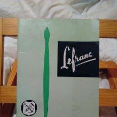 Catálogos publicitarios: LE FRANC CATALOGO AÑO 1961. Lote 67390845