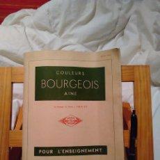 Catálogos publicitarios: CATALOGO COLEURS BOURGEOIS POUR L´ENSEIGNEMENT-CATALOGO EN FRANCES AÑOS 60. Lote 67391129