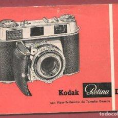 Catálogos publicitarios: KODAK RETINA III C CON VISOR TELEMETRO, LIBRITO INSTRUCCIONES 48 PAGS ... . . .N. Lote 67512281