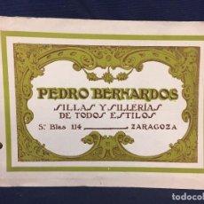 Catálogos publicitarios: CATALOGO FABRICANTE SILLAS SILLERIAS DE TODOS ESTILOS ZARAGOZA 15,5X22CMS. Lote 67518521