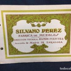 Catálogos publicitarios: CATALOGO FABRICANTE MUEBLES SILVANO PEREZ ZARAGOZA AÑOS 20 40 15,5X22CMS. Lote 67518877