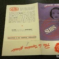 Catálogos publicitarios: FOLLETO PUBLICITARIO SLIDS, AÑOS 50. Lote 68979825