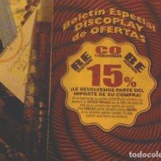 Catálogos publicitarios: BOLETÍN ESPECIAL DISCOPLAY DE OFERTAS. Lote 69013249
