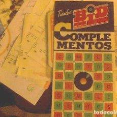Catálogos publicitarios: BID DISCOPLAY COMPLEMENTOS. Lote 69017481