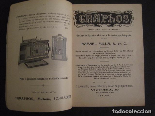 c70244f1c CATALOGO FOTOGRAFIA - RAFAEL MILLA - MADRID - APARATOS ARTICULOS -AÑO  1914.- VER FOTOS -(V-7802)