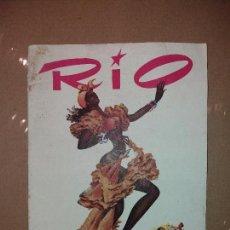 Catálogos publicitarios: RIO - SALON FIESTAS BARCELONA - CATALOGO CON FOTOS Y PUBLICIDAD COCA COLA, KLEENEX, ETC. Lote 69409233