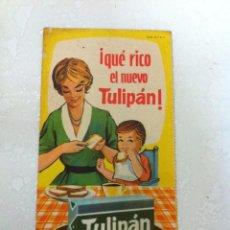 Catálogos publicitarios: ANTIGUO FOLLETO PUBLICITARIO. TULIPAN. AÑOS 60. DIPTICO. Lote 69751949