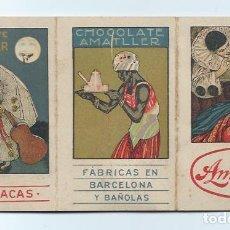 Catálogos publicitarios: CHOCOLATE AMATLLER. FÁBRICAS EN BARCELONA Y BAÑOLAS. ESTUCHE PALIPUIG.. Lote 69919025