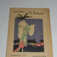 Catálogos publicitarios: CATALOGO PELETERIA H SOLSONA , BARCELONA, TEMPORADA 1917 - 18 , SEIX & BARRAL. Lote 70023869