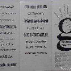 Catálogos publicitarios: TIPOGRAFIA, CARACTERES ESPECIALES, ARTES GRAFICAS, MUESTRARIO AÑOS 60. PUBLICIDAD TIPOS IMPRENTA.. Lote 70443385