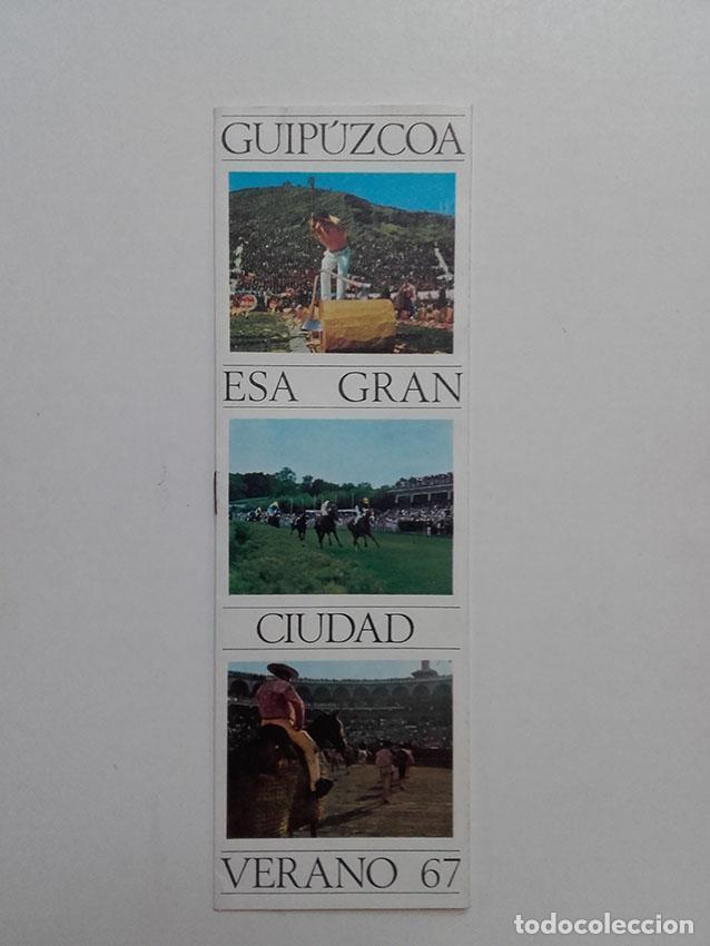 GUIPUZCOA ESA GRAN CIUDAD, VERANO 1967, PUBLICIDAD TURISTICA, BANCO GUIPUZCOANO. (Coleccionismo - Catálogos Publicitarios)