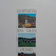 Catálogos publicitarios: GUIPUZCOA ESA GRAN CIUDAD, VERANO 1967, PUBLICIDAD TURISTICA, BANCO GUIPUZCOANO.. Lote 70450205