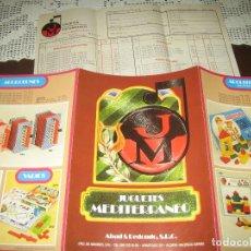 Catálogos publicitarios: JUGUETES MEDITERRANEO - 1977 - CATALOGO 69X24.50 CM . Lote 71093421